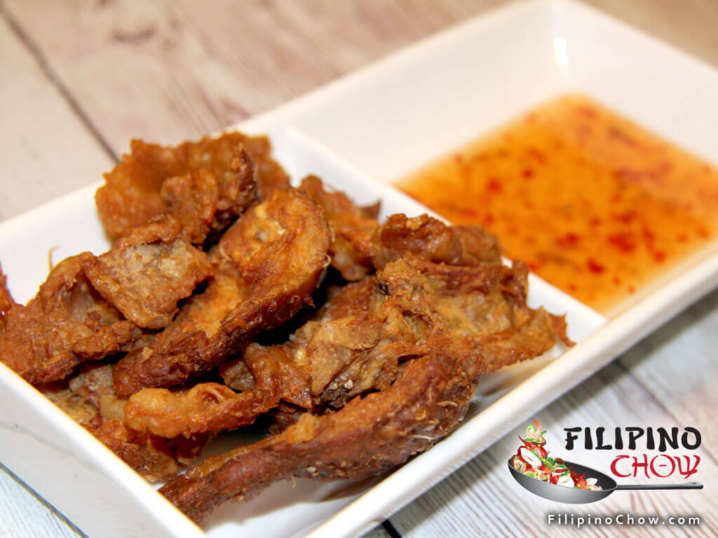 Chicken Cracklings (Chicharon Manok)