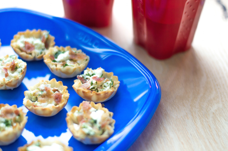 Easy GameDay Recipe: Bacon and Spinach Goat Cheese Bites