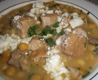 Greek Pork and Garbanzo Stew
