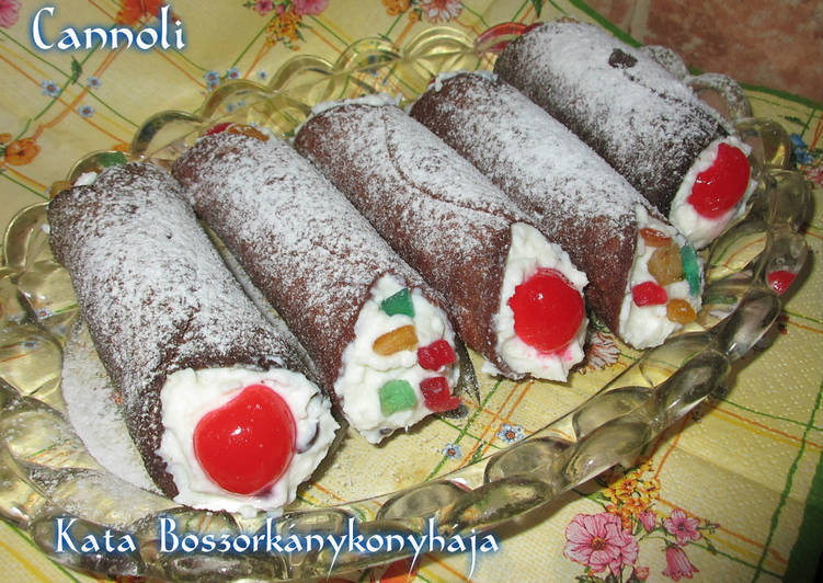 Cannoli (Gluténmentesen is)