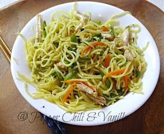 Chicken Hakka Noodles/Restaurant style Chicken Hakka Noodles