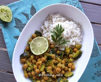 CURRY DE POIS CHICHES AUX COURGETTES