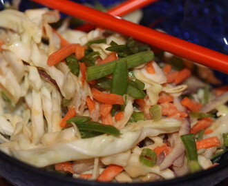 Asian Slaw with Tahini Dressing
