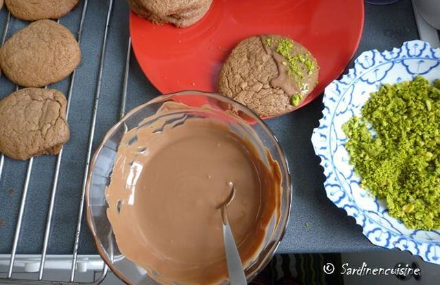 Cookies Chocolat Nutella Pistaches
