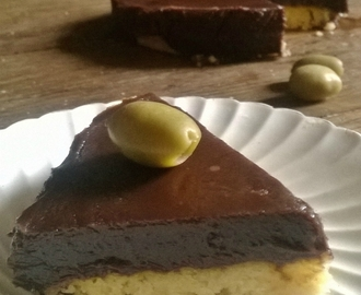 Tarte au chocolat et olives (tarte Chocolives de Eric Guérin)