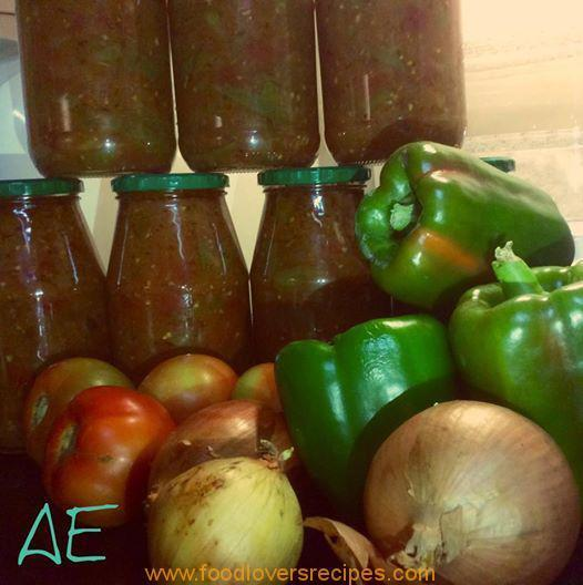 TOMATO, ONION AND GREEN PEPPER RELISH