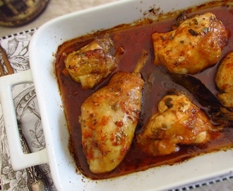 Chicken in the oven with delicious sauce | Food From Portugal