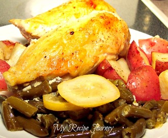 Garlic and Lemon Chicken with Green Beans and Potatoes!