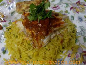 Moroccan-inspired Red Roman Fish with Spicy Rice