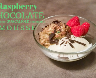 Raspberry Chocolate Guacamole Mousse