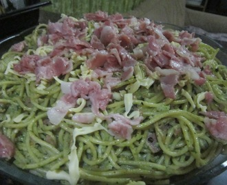 BACON and PESTO PASTA