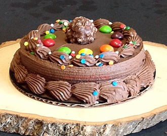 Easy Skittles & Ferraro Rocher chocolate cake…