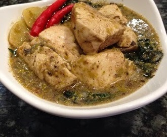 Sinampalukang Manok/Chicken in Young Tamarind Leaves Soup