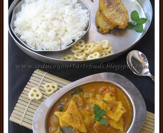 Chettinad Saiva Meen Kuzhambu | Chettinad Vegetarian Fish Curry & Vegetarian Fish Fry