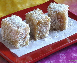 Eggless Lemon Lamingtons