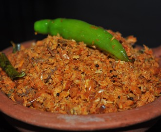 Meen Puttu (Stir Fried Shredded Fish)