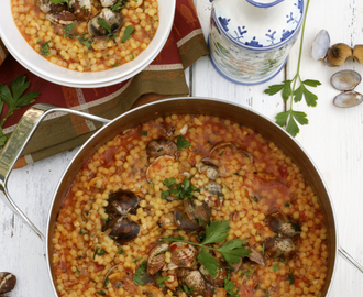 Fregula con Arselle (Sardinian Pasta with Clams) & Sardegna