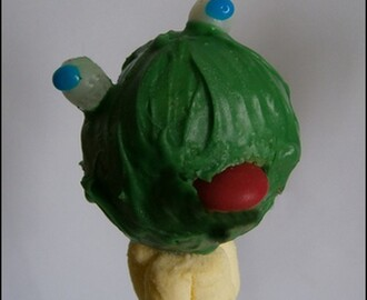 Cake pop grenouille