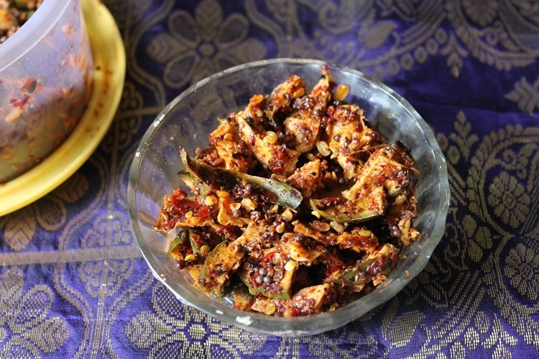Dried Mango Pickle Recipe / Hot Mango Pickle Recipe