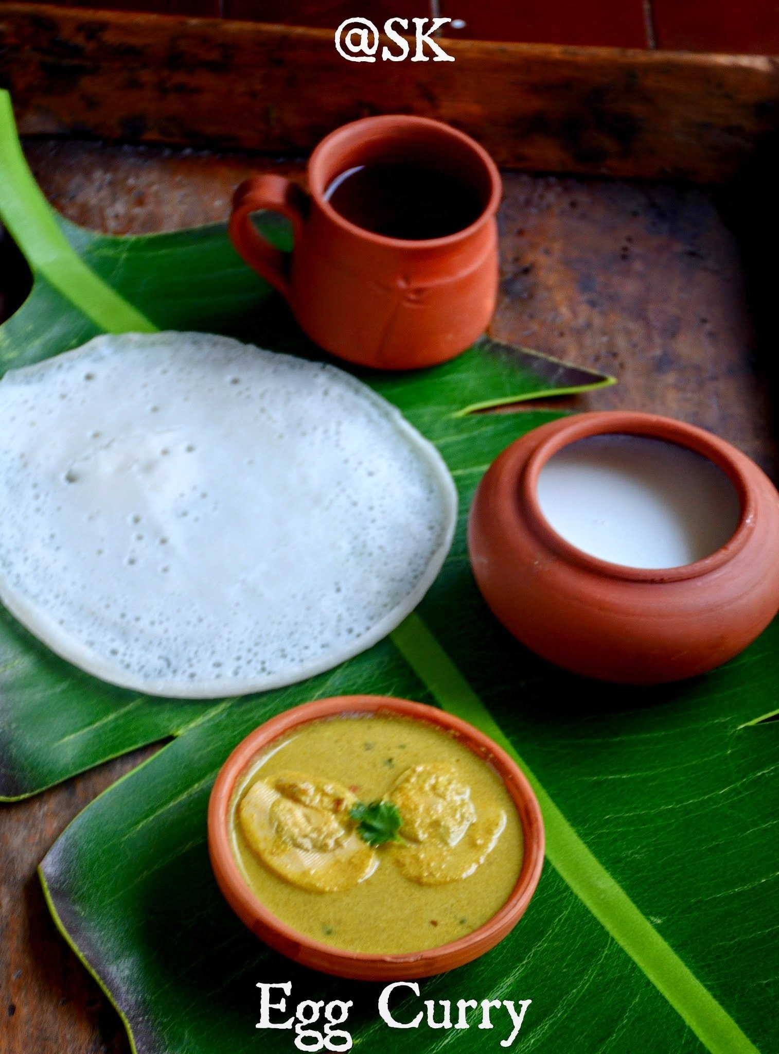 Kerala Egg Curry - கேரளா முட்டை குருமா - Best accompaniment for Appam - Step by step