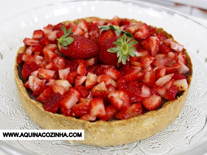 Torta de Chocolate com Morango #Lowcarb
