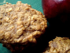 Cookies...Chewy Apple Oatmeal Cookies and Giant Toffee Chocolate Cookies