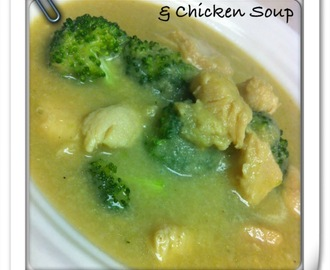 Creamy Mushroom, Broccoli and Chicken Soup -PALEO!