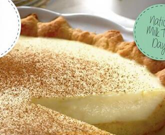 MILK TART WITH GINGER BISCUITS AND COCONUT