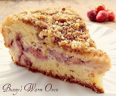 Fresh Strawberry Cream Cheese Coffee Cake