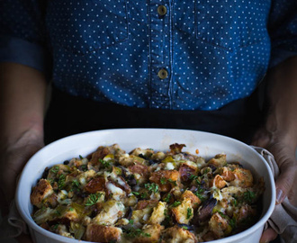 Wild Mushroom and Brioche Stuffing {Vegetarian}