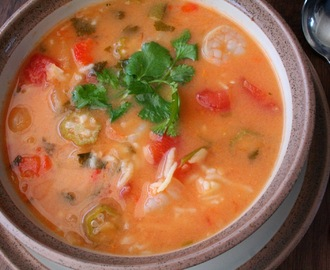 Coconut, Shrimp and Okra Soup (Dairy, Gluten and MSG Free)