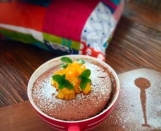 Hot Chocolate & Nutella Mug Cake