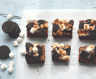 Oreo S'mores brownies