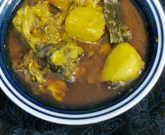 Delicious Side Dish For Lunch  -  Fish Head Curry.