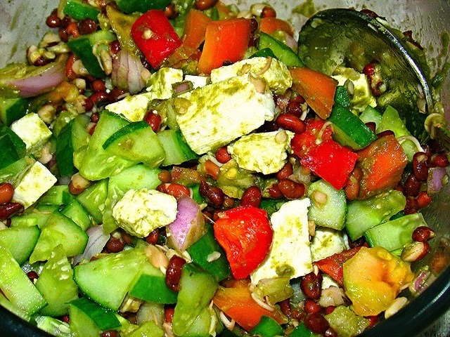 Healthy Full fibre salad - Perfect dinner for weight loss