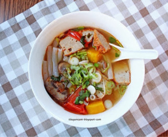 Bun Cha Ca - Fish Paste Soup (Lent Friendly)