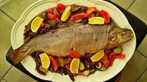 Braam Jr wrote a new post, Roasted trout with steamed seasonal veg, on the site Braam's bite