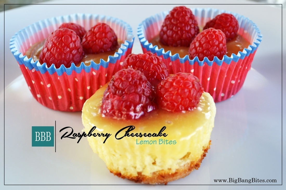 Raspberry Cheesecake Lemon Bites