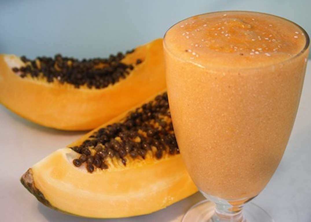 Healthy Papaya Smoothies #SmoothieWorld