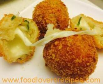 Cheesy potato balls