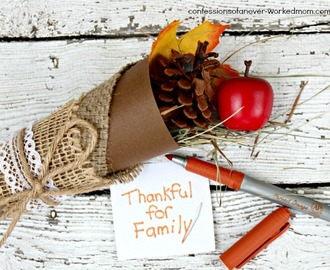 Thanksgiving Place Setting Ideas | Cornucopia Crafts