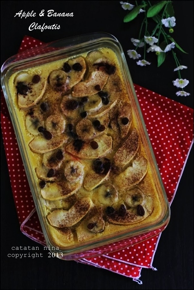 APPLE & BANANA CLAFOUTIS