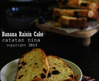 BANANA RAISIN CAKE