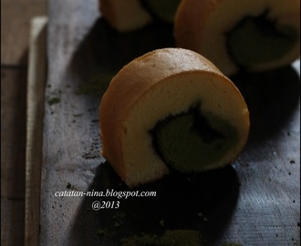 MINI ROLL CAKE WITH GREEN TEA