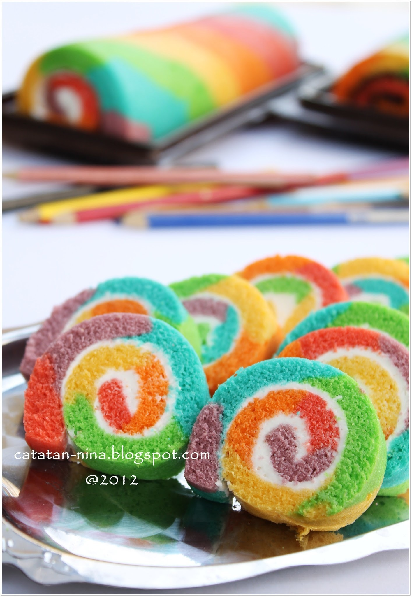 RAINBOW ROLL CAKE PART II