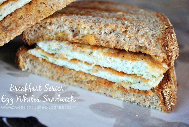 Breakfast Series: Egg Whites Sandwich