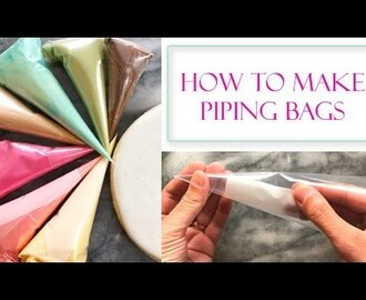 How to Make Piping Bags for Icing | Using Freezer Bags