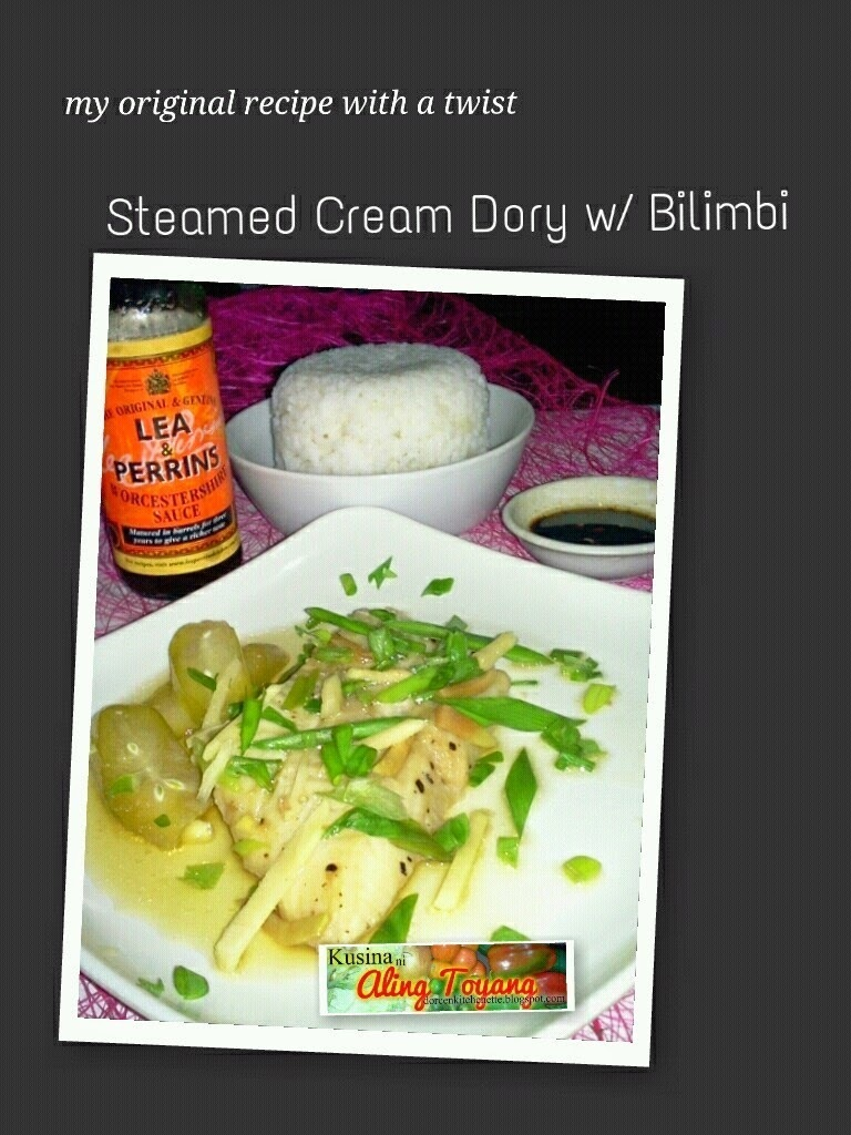 Steamed Cream Dory Fish in Bilimbi