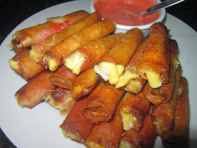 CRAB STICKS & CHEESE SPRING ROLL