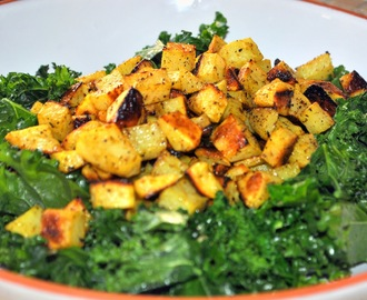 Day 18: Kale with Roasted Lemon Pepper Potatoes